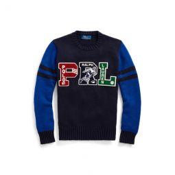 PRL Cotton Letterman Sweater
