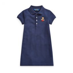 School Bear Mesh Polo Dress