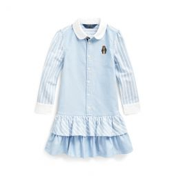 Bear Striped Cotton Shirtdress
