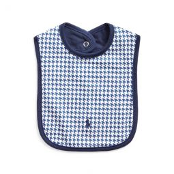 Houndstooth Cotton Bib