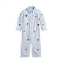 Embroidered Oxford Coverall