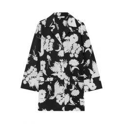 Black Kochhar floral-print silk-crepe shirt