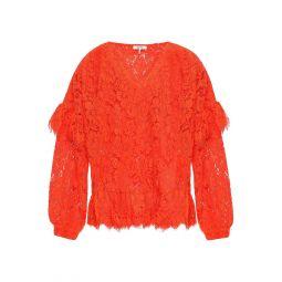 Papaya Jerome ruffled corded lace blouse