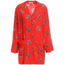 Red Kochhar floral-print silk-crepe shirt