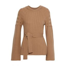 Camel Dorise ribbed wool and cashmere-blend sweater