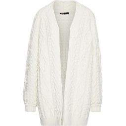 Off-white Mouffle cable-knit wool-blend cardigan
