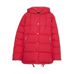 Red Gaos quilted cotton-shell down hooded coat