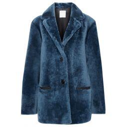 Petrol Shearling coat