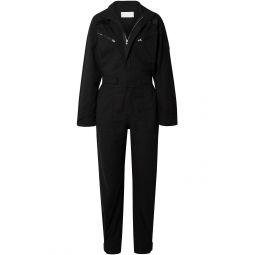 Black Cotton-ripstop jumpsuit