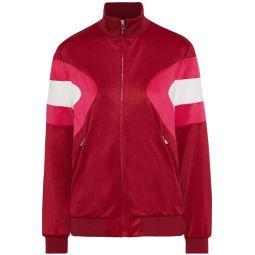 Pink Color-block stretch-knit track jacket