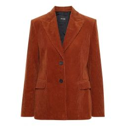Brick Cotton-corduroy blazer
