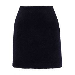 Black Brushed-felt mini skirt