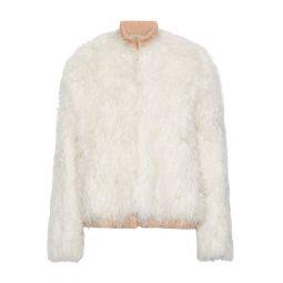 Ecru Faux fur jacket
