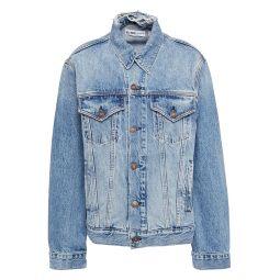 Mid denim Distressed denim jacket