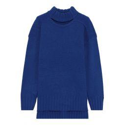 Cobalt blue Stratford cutout wool and cashmere-blend sweater