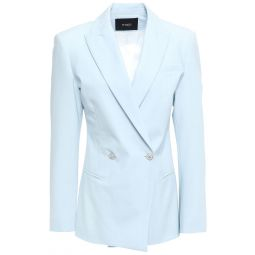 Sky blue Double-breasted woven blazer