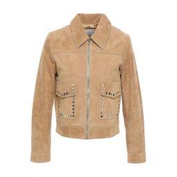 Sand Studded suede jacket