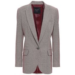 Merlot James houndstooth wool blazer