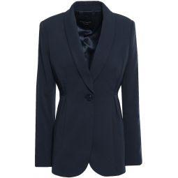 Midnight blue Malorie pleated cady blazer