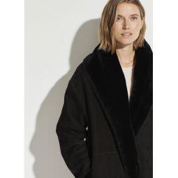 Reversible Shearling Cardi Coat