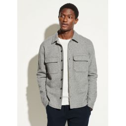 Fleece Twill Shirt Jacket