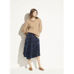 Winter Tie Dye Pleated Skirt