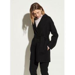 Belted Wool Cardigan Coat
