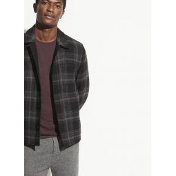 Wool Plaid Shirt Jacket