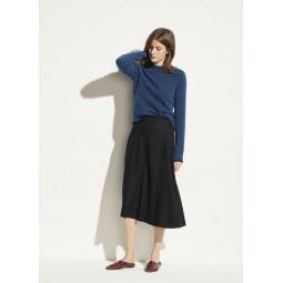 Wool Paneled Skirt