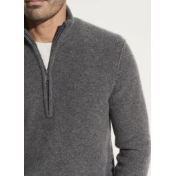 Boiled Cashmere Half Zip Sweater