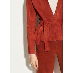 Suede Cardigan Jacket