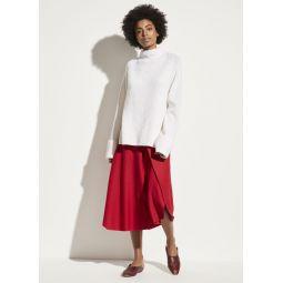 Asymmetric Drape Flannel Skirt