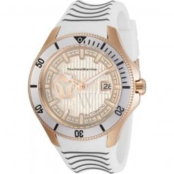 Mens Cruise Silicone Gold-tone Dial