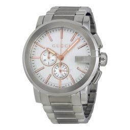Mens G-Chrono Chronograph Stainless Steel Silver Dial
