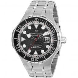 Mens Grand Cruise Stainless Steel Black Dial
