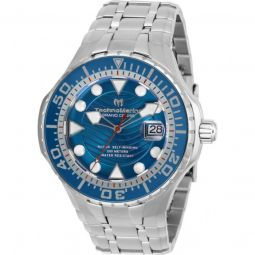 Mens Grand Cruise Stainless Steel Blue Dial