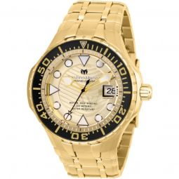 Mens Grand Cruise Stainless Steel Gold-tone Dial