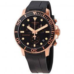 Mens Seastar 1000 Chronograph Rubber Black Dial