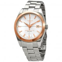 Mens Stainless Steel Silver Dial