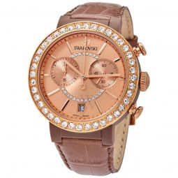 Womens Citra Chronograph Leather Rose Gold-tone Dial