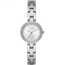 Womens City Link Stainless Steel Silver-tone Dial