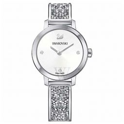 Womens Cosmic Rock Stainless Steel and Crystal White Dial