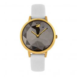 Womens Crystal Lake Leather Black Dial
