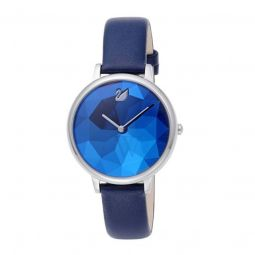 Womens Crystal Lake Leather Blue Dial
