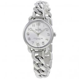 Womens Delancey Stainless Steel Bangle Silver Dial