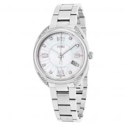 Womens Momento Stainless Steel Mother of Pearl Dial