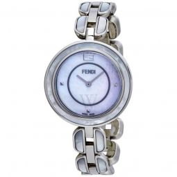 Womens My Way Stainless Steel Mother of Pearl Dial