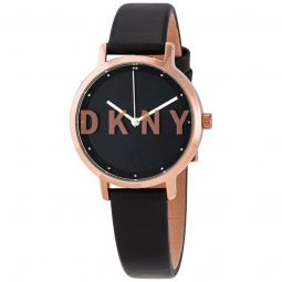 Womens The Modernist Leather Black Dial
