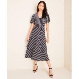 Tall Stripe Tiered Midi Dress