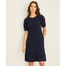 Petite Puff Sleeve Pocket Shift Dress